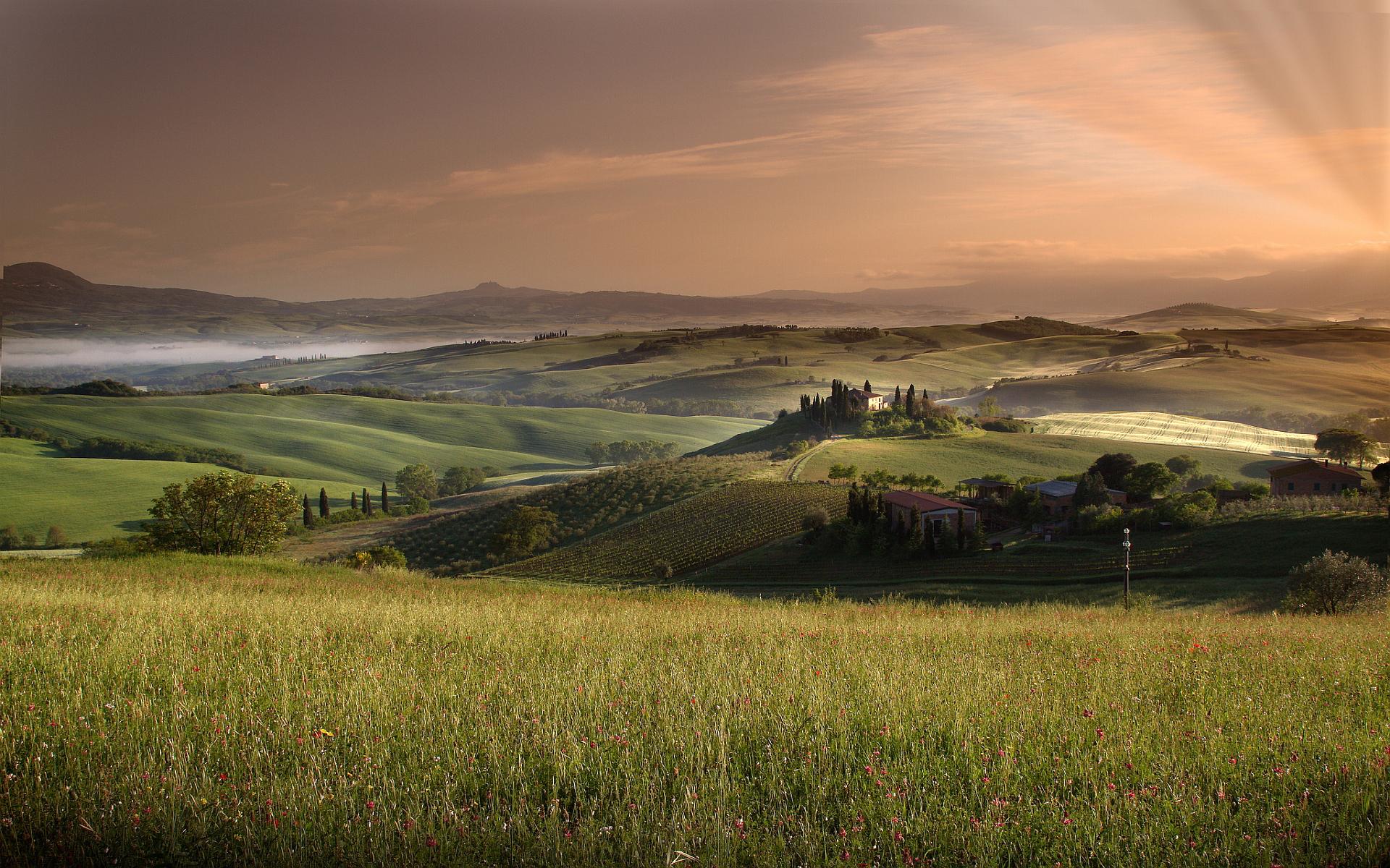 Flower Images 3d Wallpapers Marvelous Scenery Of Tuscany Italy T K Pradeep Shetty