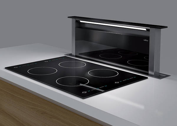 Built In Kitchen Island Andante Downdraft Extractor Black
