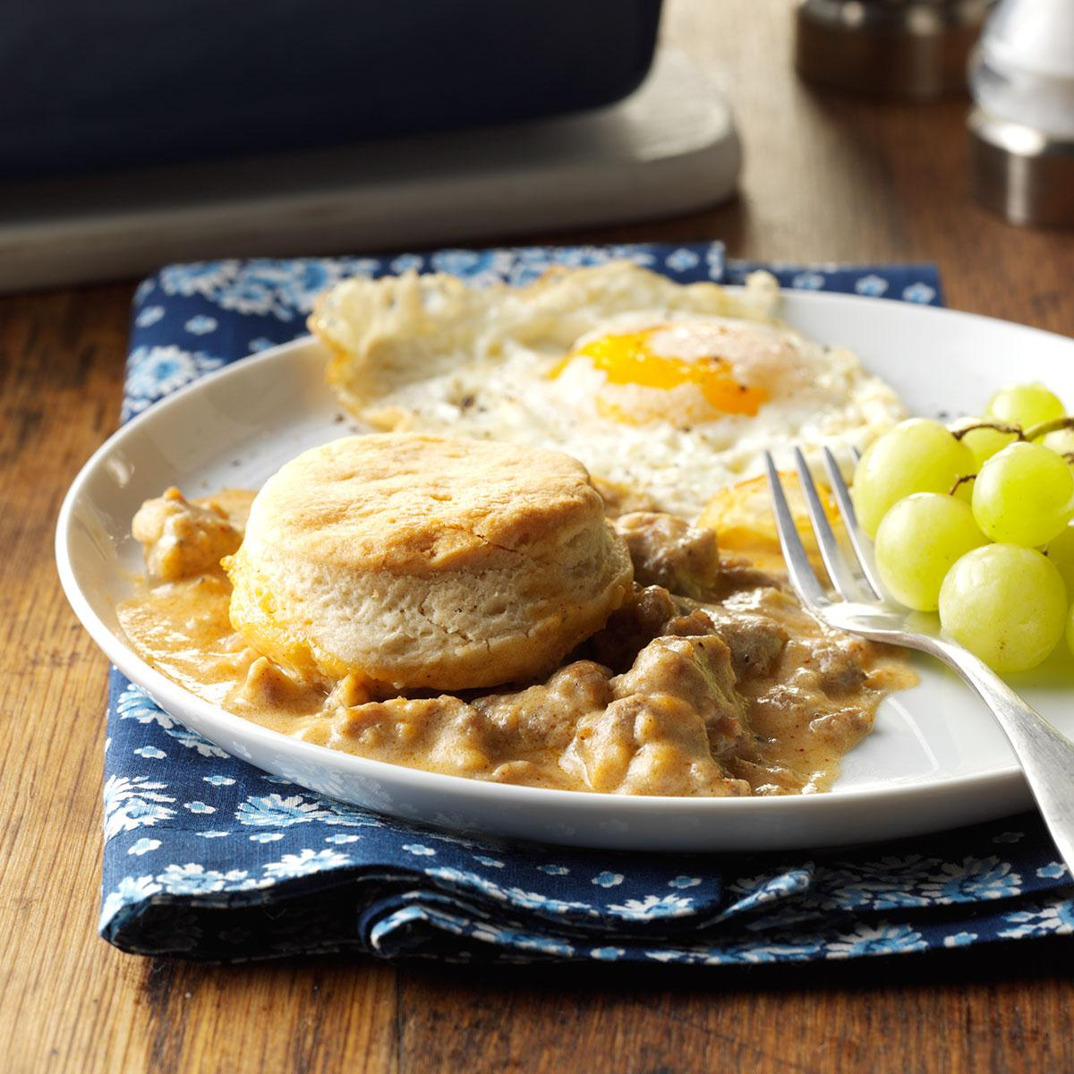 Fullsize Of Biscuits And Gravy Bake