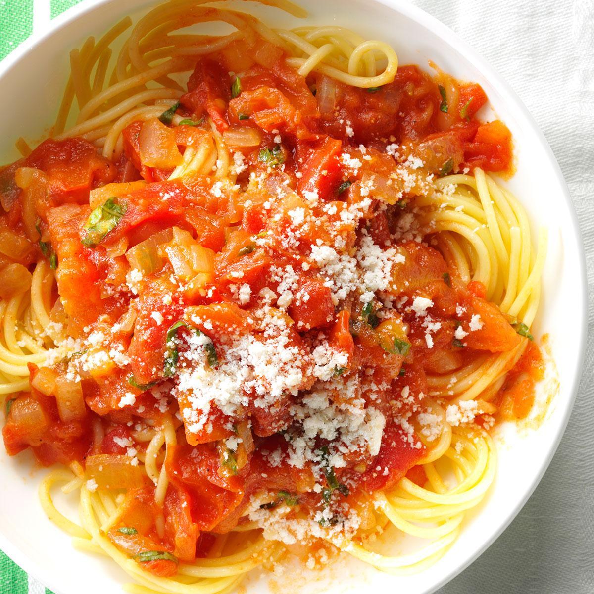 Glancing Spaghetti Home How To Thicken Tomato Sauce From Scratch How To Thicken Tomato Sauce Without Tomato Paste Fresh Tomato Sauce Recipe Taste houzz-02 How To Thicken Tomato Sauce