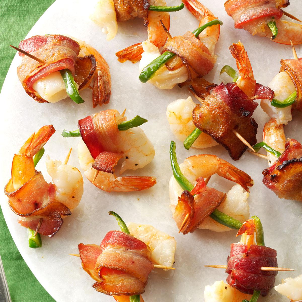 Canapés Wraps Bacon Wrapped Shrimp