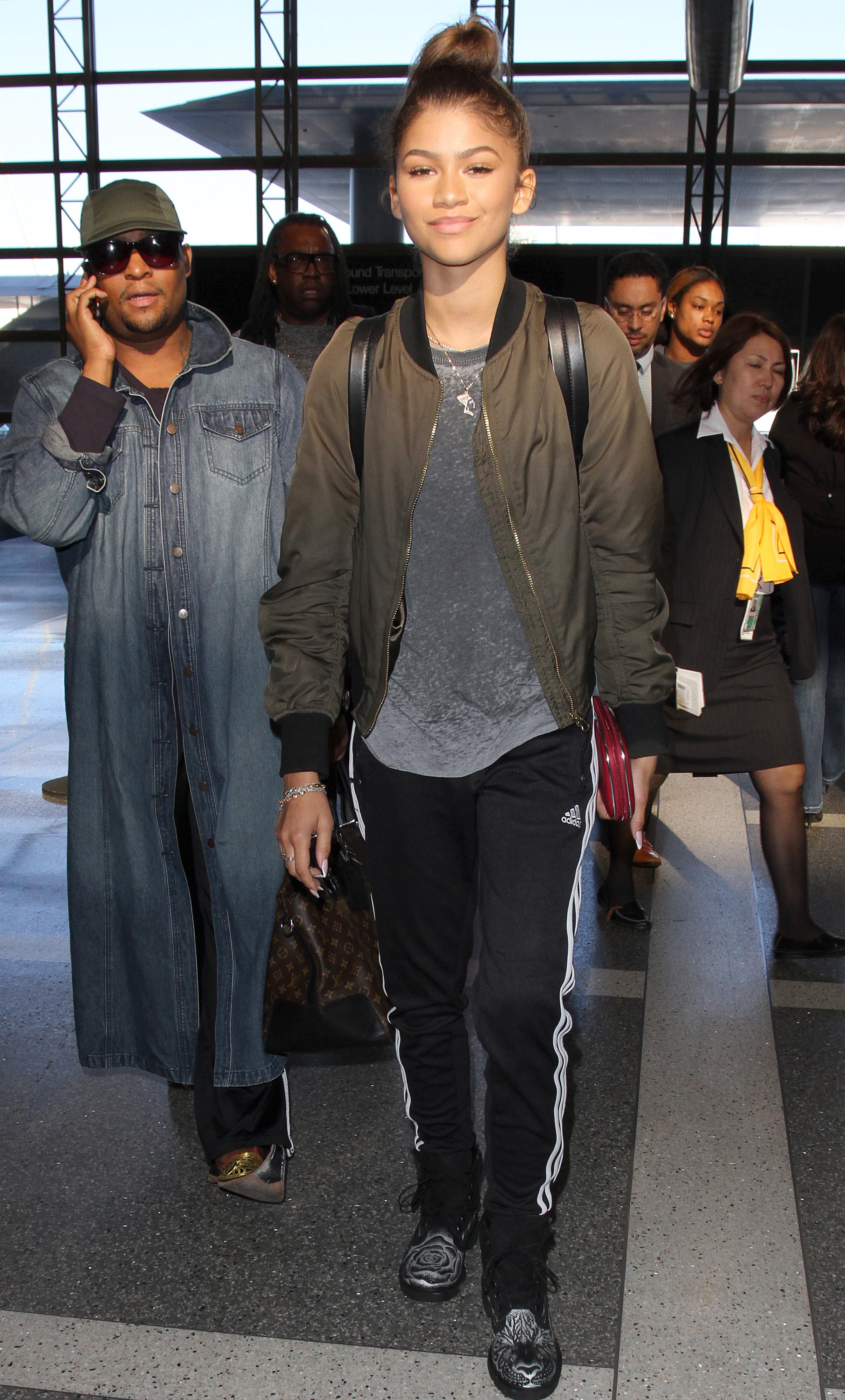 Zendaya is spotted as she arrives at LAX