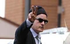 Charlie Sheen enters the Pitkin County Court House in Aspen, Colorado on June 7, 2010.