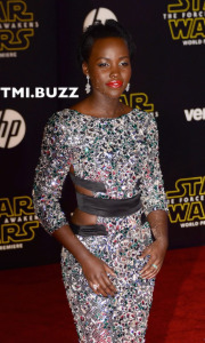 Lupita Nyong'o at the Premiere Of Walt Disney Pictures And Lucasfilm's 'Star Wars: The Force Awakens' on December 14, 2015 in Hollywood, California.