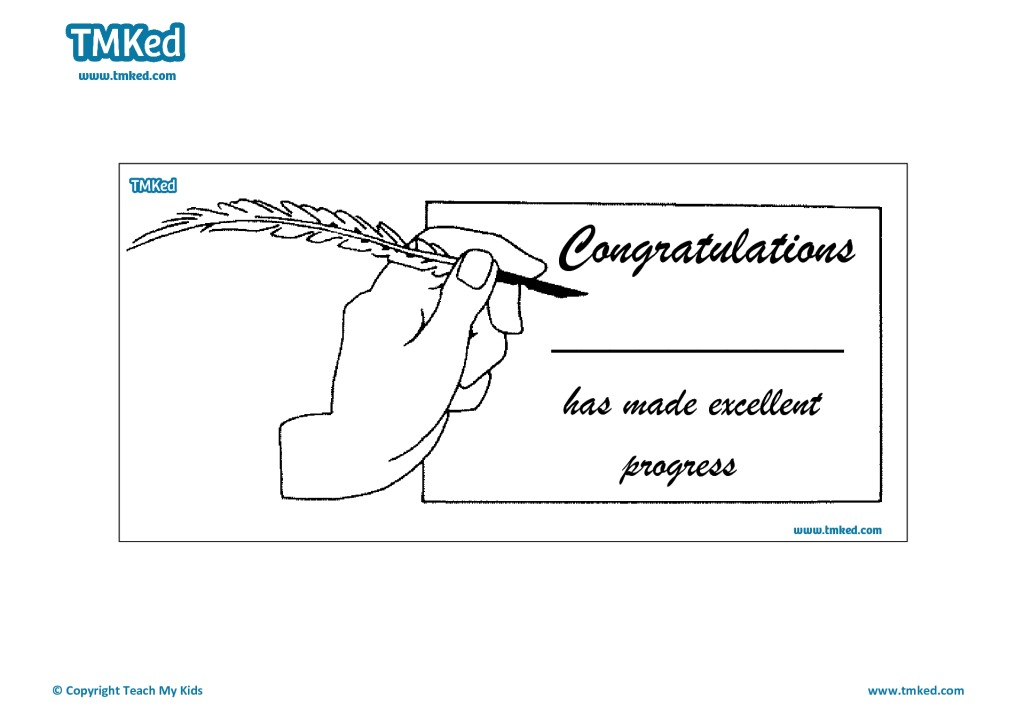 Congratulations Certificate - TMK Education - congratulations certificate