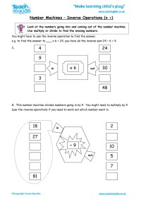 Printable Worksheets  Year 3 Inverse Operations ...