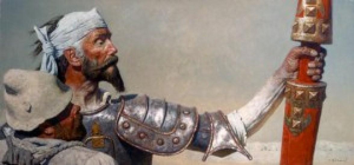 Geli-Korzhev-Don-Quixote-and-Sancho-Panza-1977-1984-Oil-on-Canvas-42-1-2-x-89-1-4-300x140