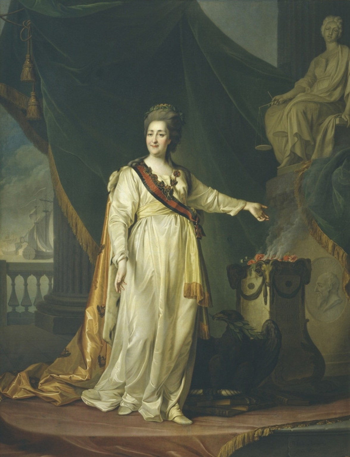 Portrait of Catherine II, 1783. Painting.