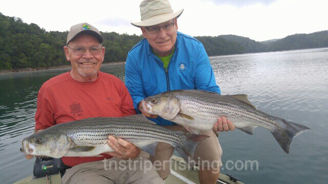 Norris lake dave bob and roy 7 15 2016 jay 39 s striper for Norris lake fishing