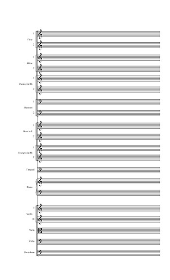 Blank Sheet Music Templates, Folk songs for download - blank sheet of paper with lines