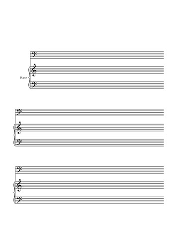 Blankl Sheet Music Piano and Bass Clef - bass cleft sheet music