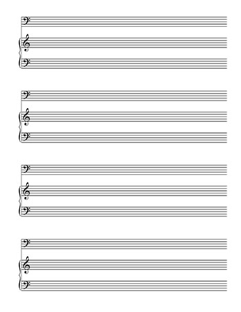 Blankl Sheet Music Piano and Bass Clef - bass cleff sheet music