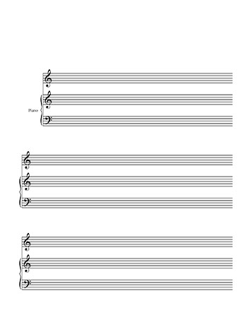 Blankl Sheet Music Piano and Treble Clef