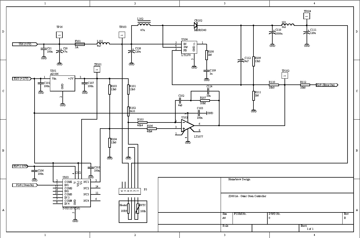 electric oven schematic