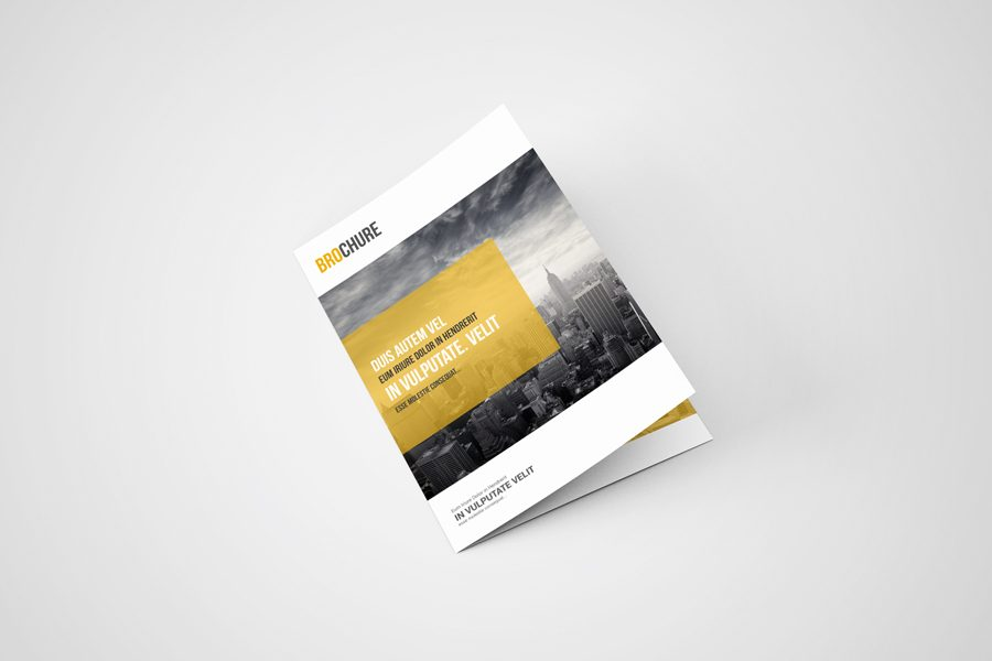 A5 Bi-Fold Brochure Mockups - ToaSin Studio Free  Premium Product