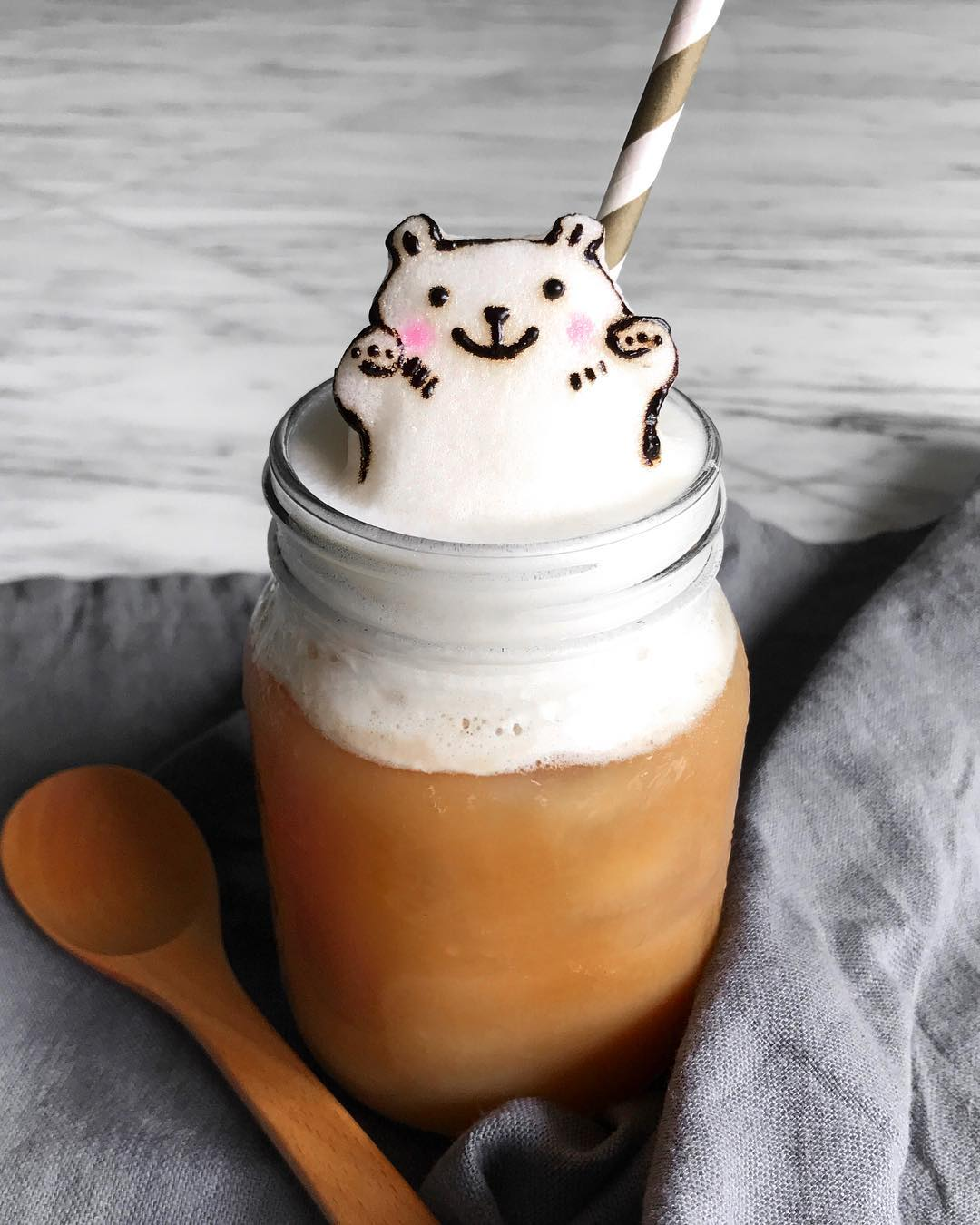 Coffee Art Bear Self Taught Latte Artist Daphne Tan Whips Up Adorable 3d