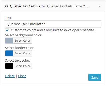 CC Quebec Income Tax Calculator Plugin WordPress, Download, Install - Income Tax Calculator