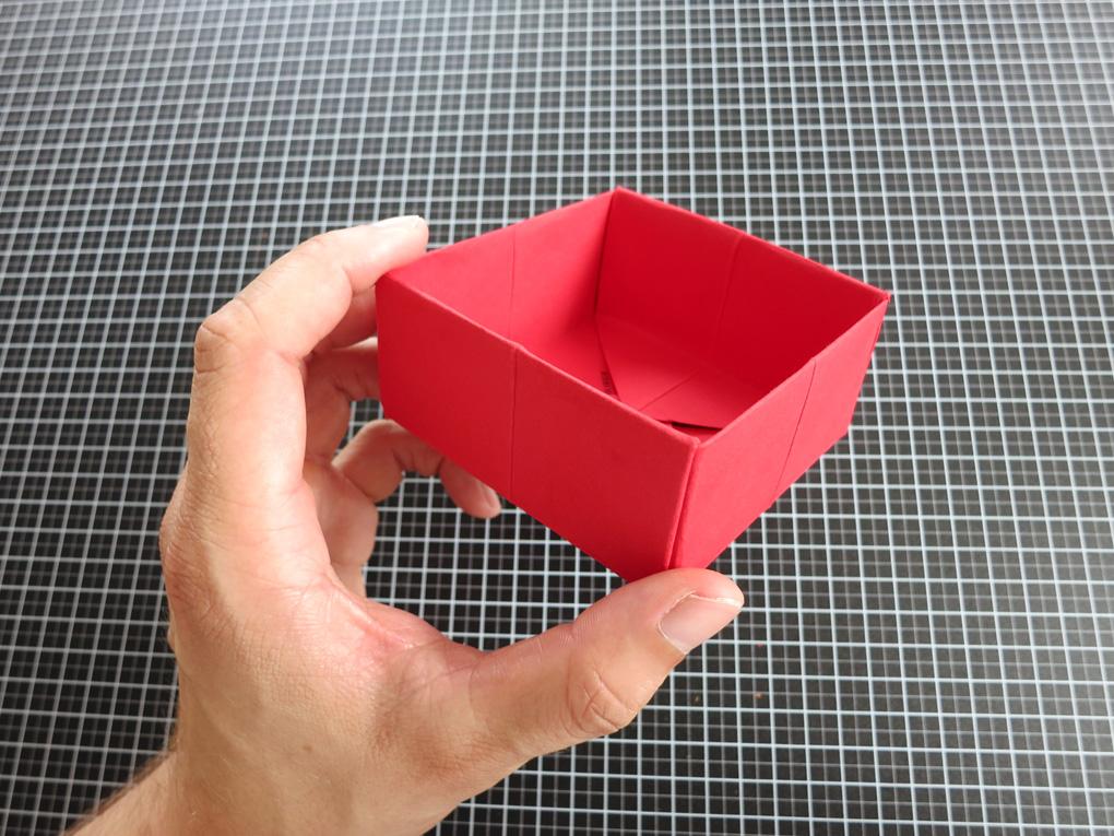 Make a RED paper box