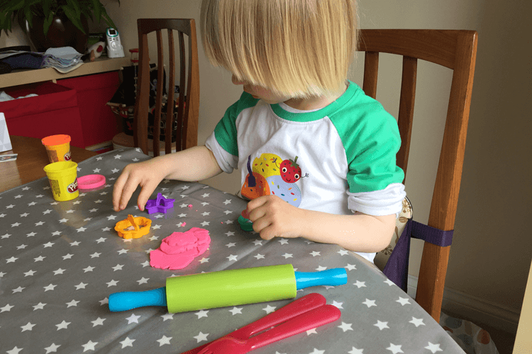Messy Mat is great for play dough