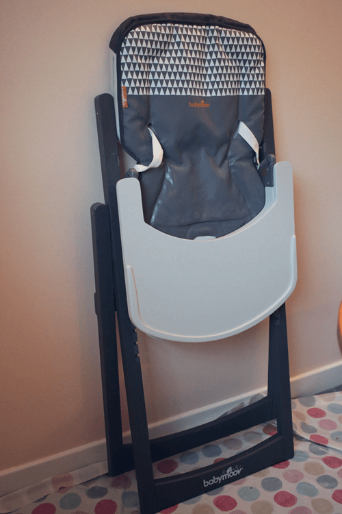 Babymoov Light Wood High Chair folds flat