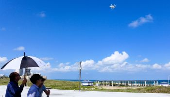 Drones survey waning red tide at South Padre Island