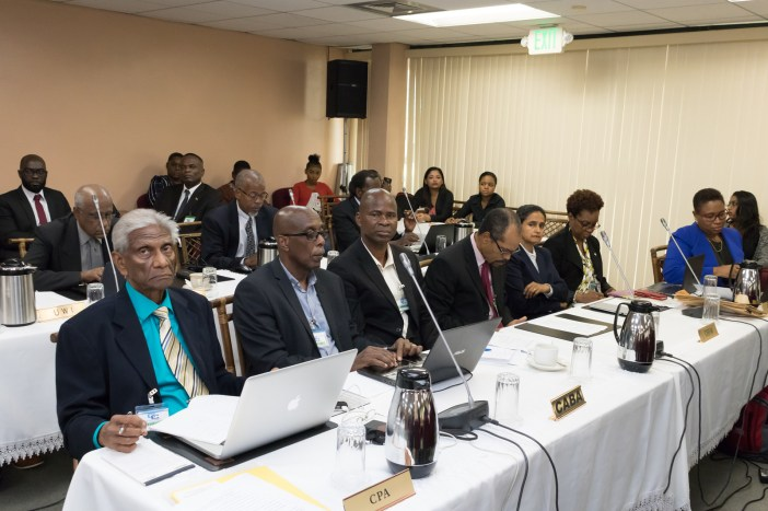 Representatives from the Caribbean Poultry Association, the Caribbean Agribusiness Association and other delegates at the 71st Special Meeting of the COTED at the CARICOM Secretariat, 6 October, 2017