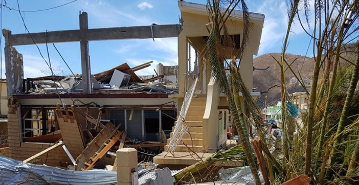Hurricane Irma damage in the British Virgin Islands
