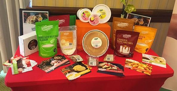 Healthy food alternatives on display (Photo via Health Caribbean Coalition)