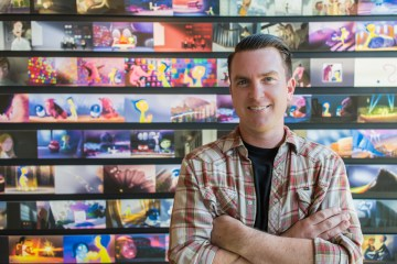 Alumnus and assistant editor at Pixar Animation Studios Jimmy Lillard inside the stuidos' headquarters.