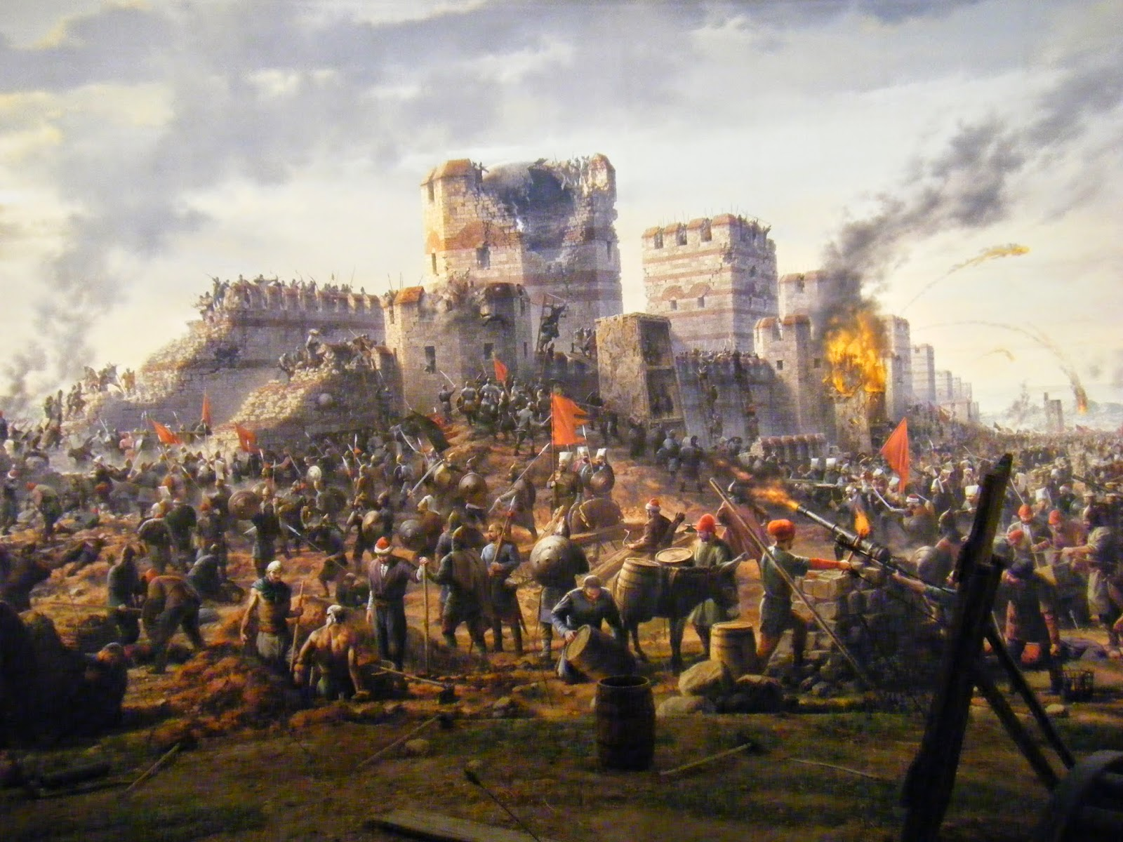 4k Fall Painting Wallpapers Fall Of Constantinople 1 Today In History