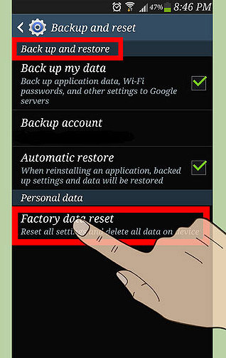 How to Factory Reset Settings your Android Smartphone