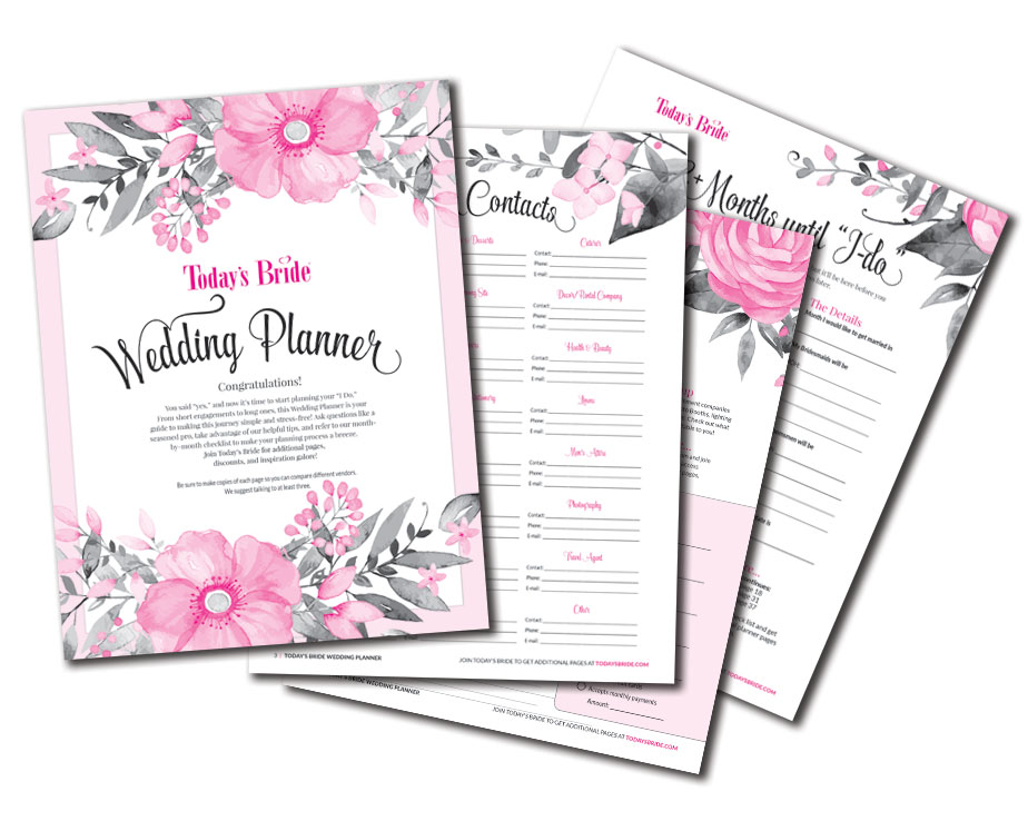 free printable wedding planner organizer