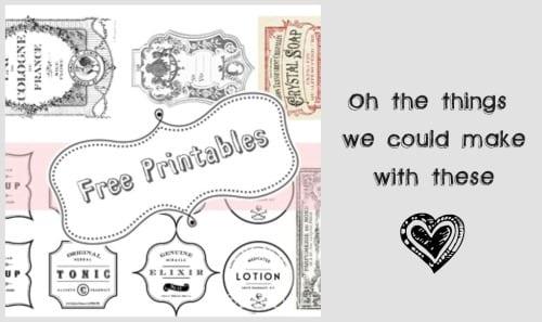 free printable vintage label templates