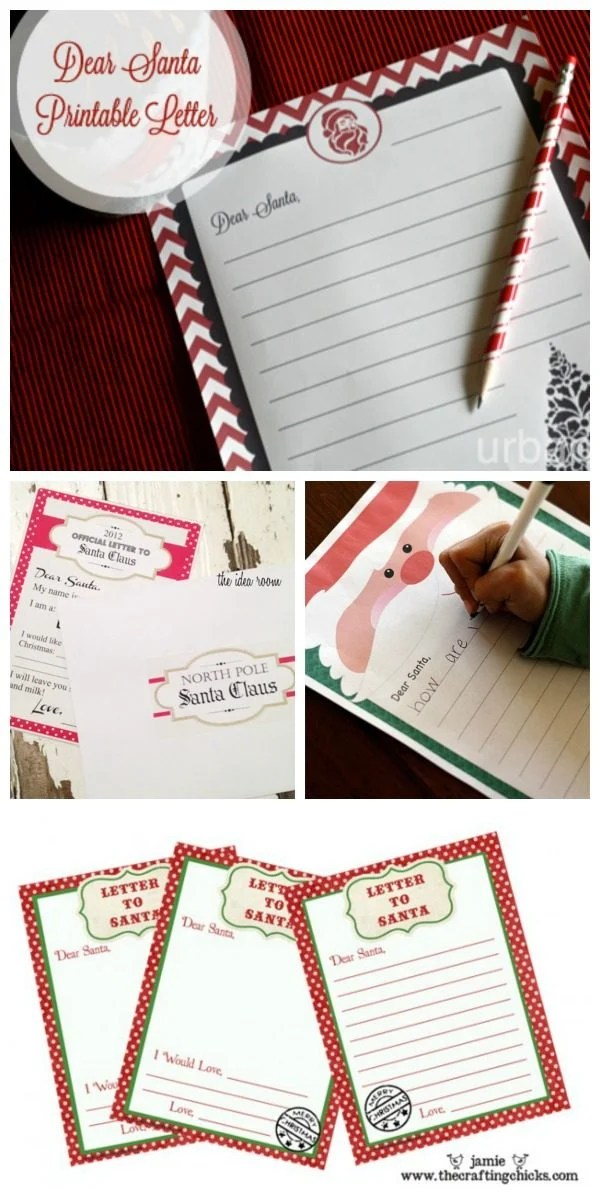 Letter To Santa - Print your Own Today\u0027s Creative Life