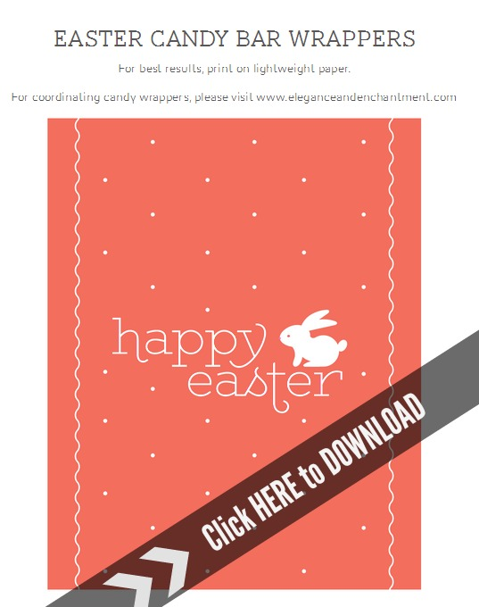 Printable Easter Candy Bar Wrappers Today\u0027s Creative Life