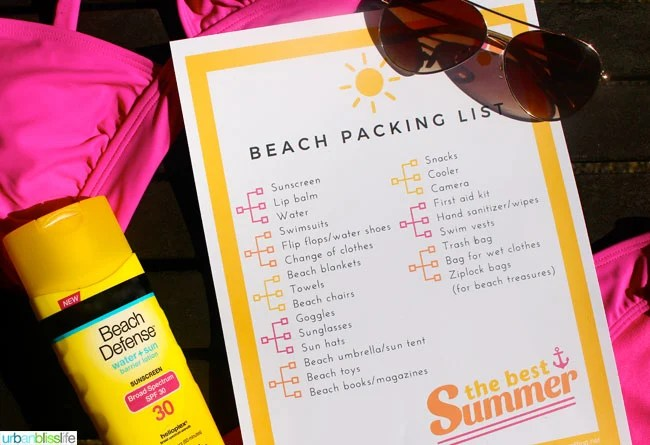 Free Printable Beach Vacation Packing List Today\u0027s Creative Life