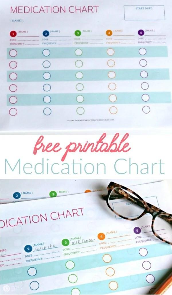 Medication Log Free Printable Today\u0027s Creative Life