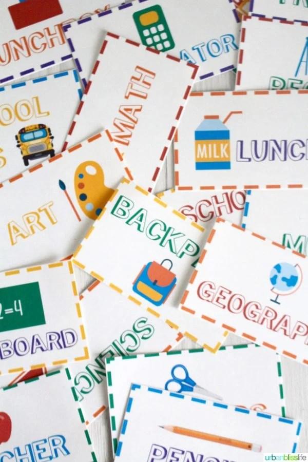 Back to School Charades Free Printable Today\u0027s Creative Life