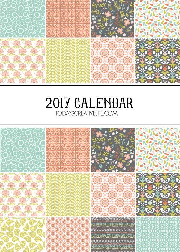2017 Calendar Free Printable Today\u0027s Creative Life - free printable monthly calendar
