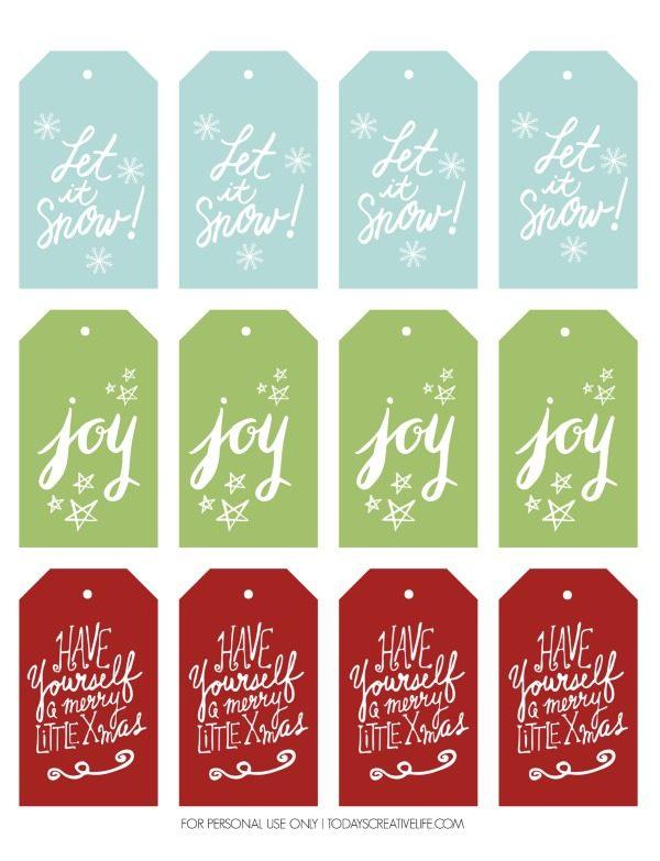 Free Christmas Gift Tags Today\u0027s Creative Life