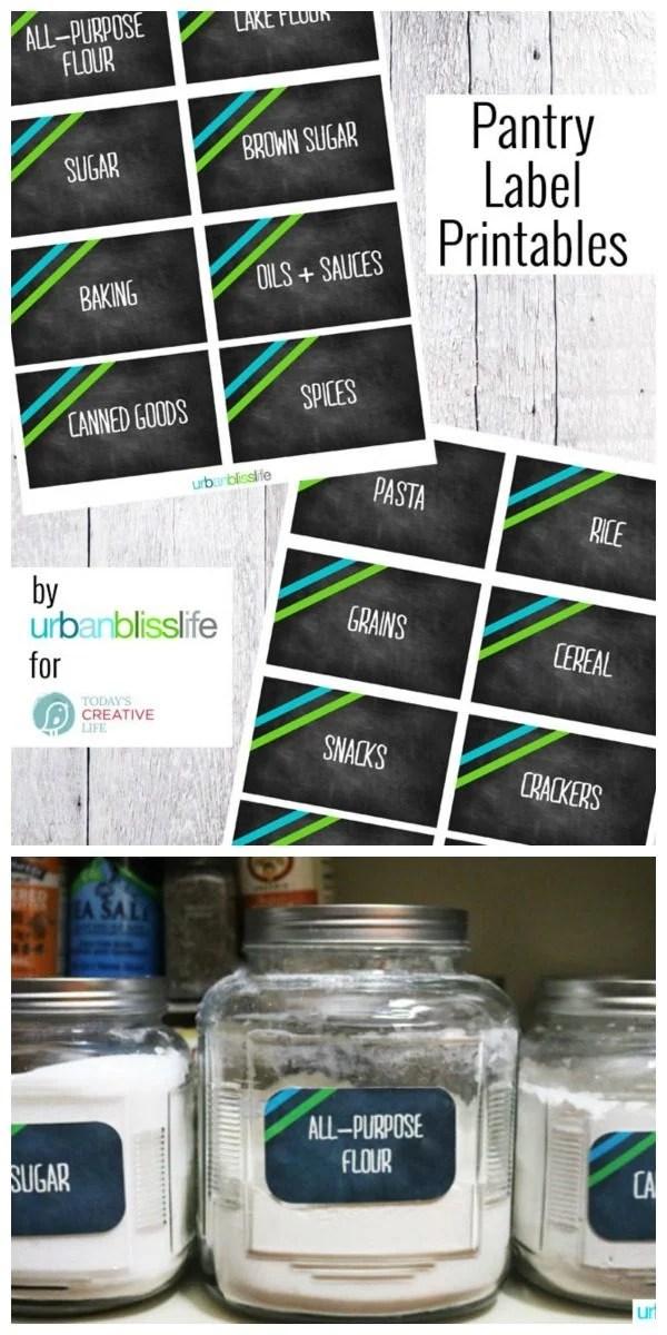 Free Printable Pantry Labels Today\u0027s Creative Life
