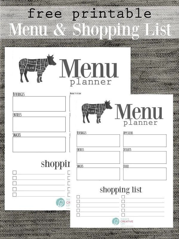Grocery List Free Printable Today\u0027s Creative Life - Printable Weekly Menu Planner With Grocery List