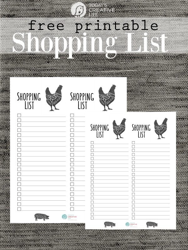 Grocery List Free Printable Today\u0027s Creative Life