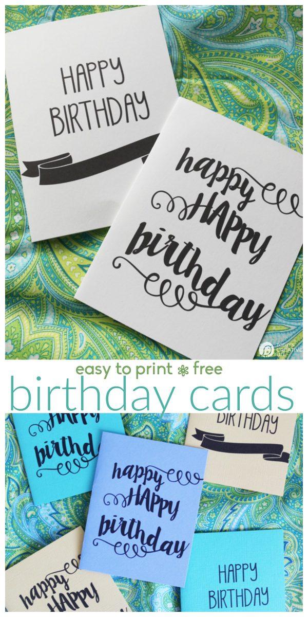 Printable Birthday Cards Free Printables Today\u0027s Creative Life