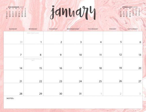 Inspirational Free Printable 2018 Calendar Today\u0027s Creative Life - free printable calendar