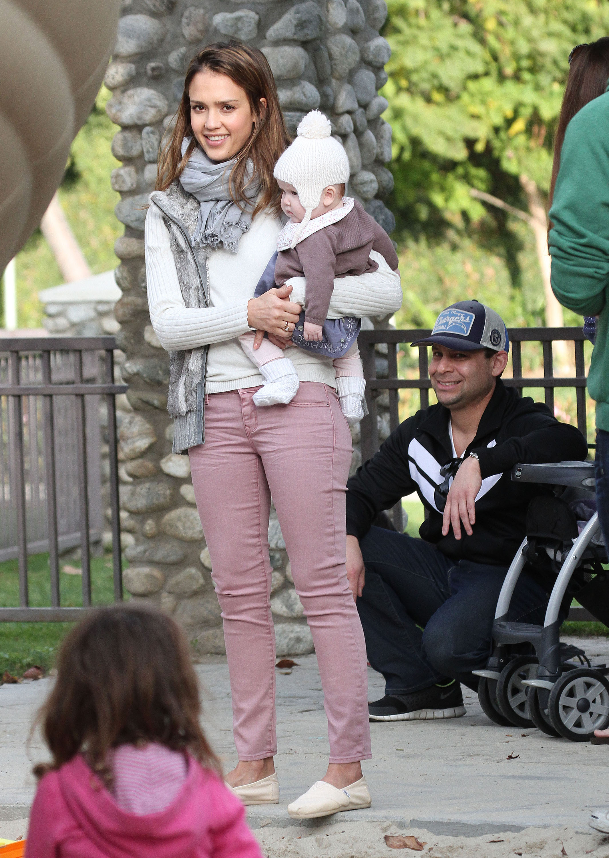 Baby Boy Strollers And Car Seats Sweet Photos In The Park With Jessica Alba Cash Warren