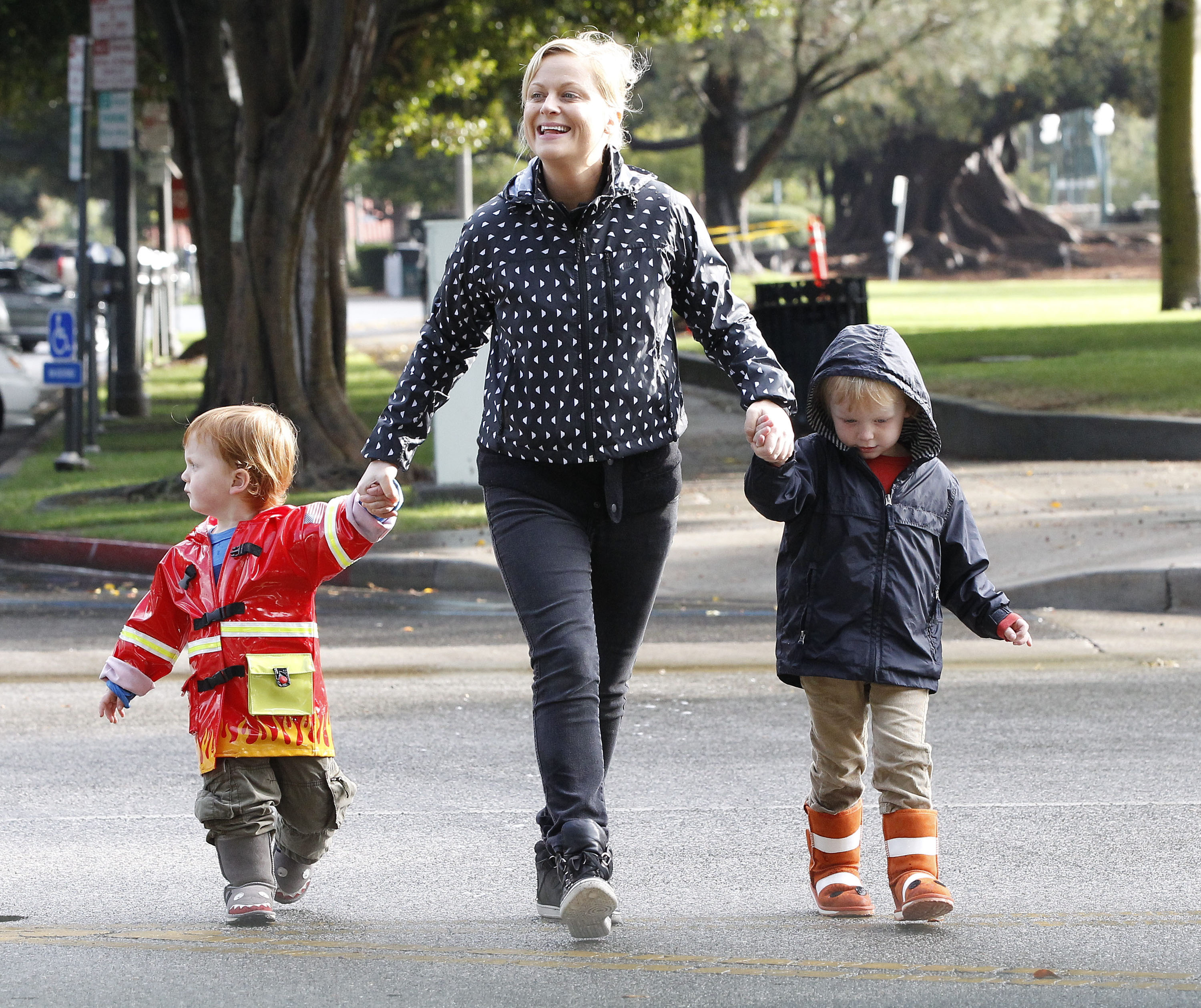 Baby Toddler Rain Boots Amy Poehler Takes The Boys To School Today 39;s Parent
