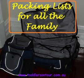 packing list for kids and family