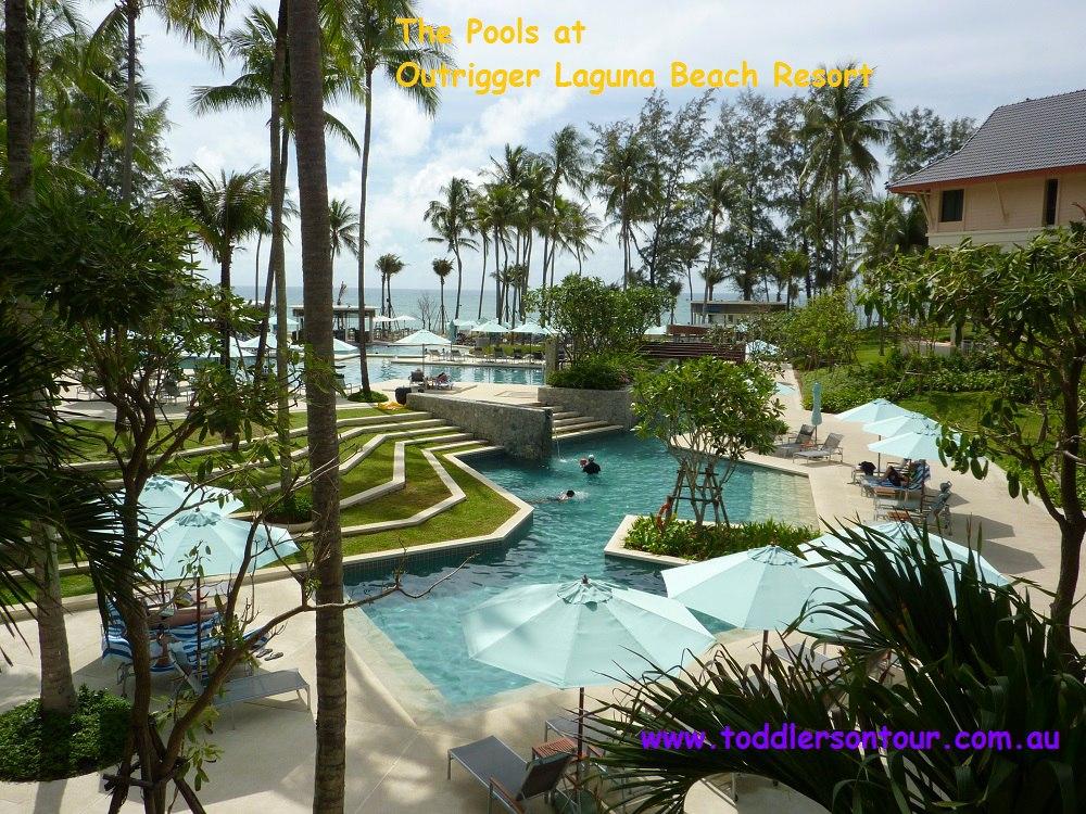 The pools at Outrigger Laguna beach Resort