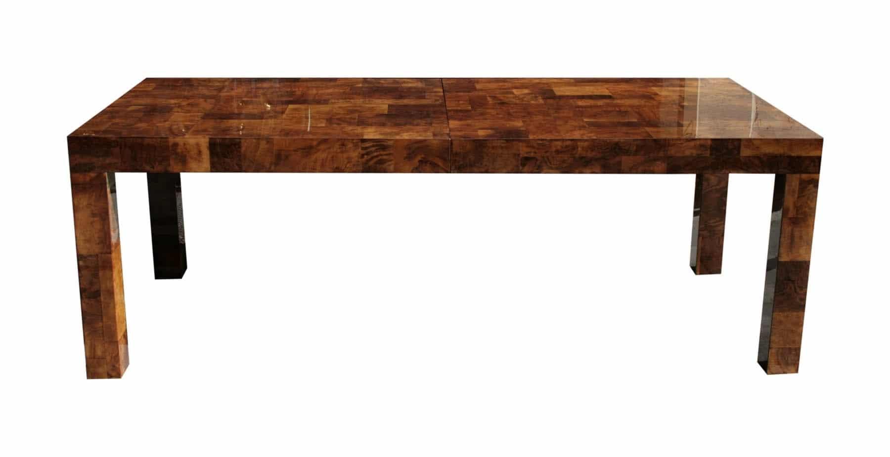 Walnut Dining Bench Paul Evans Dining Table in Walnut Burl | Todd Merrill Studio